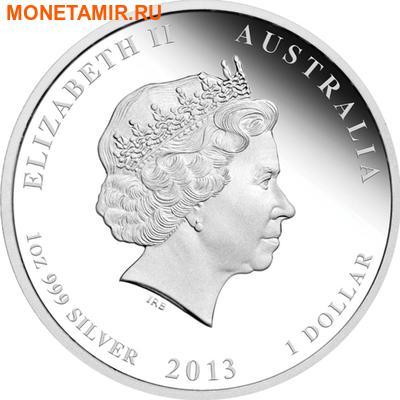 Австралия 1 доллар 2013.Год Змеи - Лунный календарь.Арт.60 (фото, вид 1)