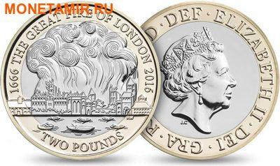 Великобритания Полный Годовой Набор 2016 (The 2016 UK Brilliant Uncirculated Annual Coin Set).Арт.60 (фото, вид 3)