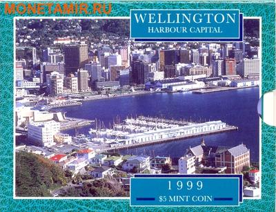 Новая Зеландия 5 долларов 1999.Веллингтон – Гавань.Корабль.(буклет).Арт.60 (фото, вид 2)