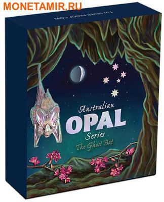 Австралия 1 доллар 2015.Австралийский ложный вампир (летучая мышь) – Опал.Арт.60 (фото, вид 3)