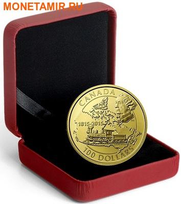 Канада 100 долларов 2015.Премьер-министр Канады Джон Макдональд - Поезд.Арт.60 (фото, вид 2)