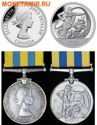 Канада 1 доллар 2013.60 лет перемирию в Корейской войне.Арт.000218244764/60 (фото, вид 2)