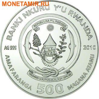 Руанда 500 франков 2010.Черепаха - Chelonia mydas.Арт.60 (фото, вид 1)
