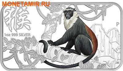 Острова Кука 4х1 доллар 2016.Набор из четырех монет.Лунный календарь – Год Обезьяны.Арт.60 (фото, вид 1)