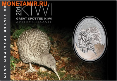 Новая Зеландия 1 доллар 2016.Киви (блистер).Арт.60 (фото, вид 2)