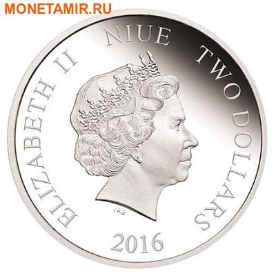 Ниуэ 2 доллара 2016.Год Обезьяны – Лунный календарь.Арт.60 (фото, вид 1)