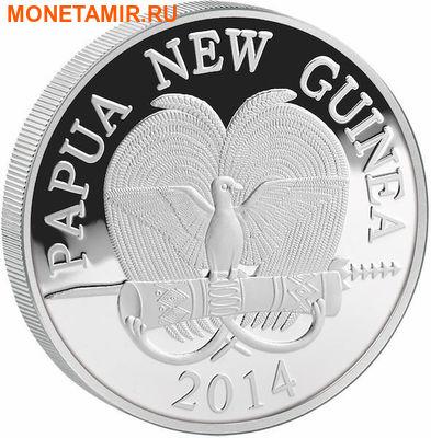 Папуа Новая Гвинея 10 кина 2014.Драгоценная жемчужина – Журавли (перламутр).Арт.60 (фото, вид 1)