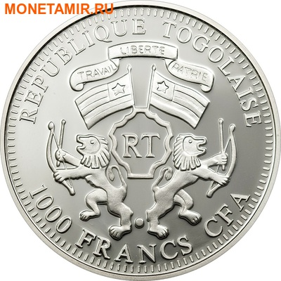 Того 1000 франков 2011.Зебра (призма).Арт.000174738392/60 (фото, вид 1)