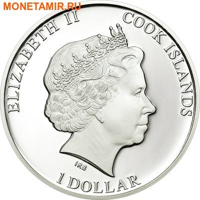 Острова Кука 1 доллар 2013.Полярный медведь (призма).Арт.000070442566/60 (фото, вид 1)