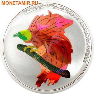 Конго 3x5 франков 2004.Птицы – Кетсаль (Quetzal) Райская птица (Bird of Paradise) Зимородок (Kingfisher) (призма).Арт.60 (фото, вид 2)