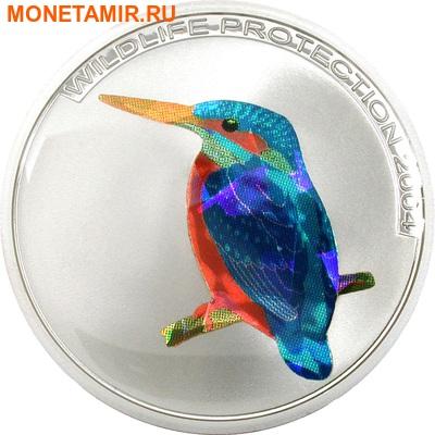 Конго 3x5 франков 2004.Птицы – Кетсаль (Quetzal) Райская птица (Bird of Paradise) Зимородок (Kingfisher) (призма).Арт.60 (фото, вид 3)
