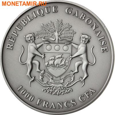 Габон 1000 франков 2013.Слоны с детенышем.Арт.000447349989/60 (фото, вид 1)