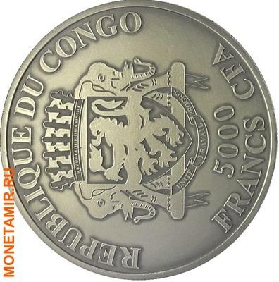 Конго 5000 франков 2013.Лев (эмаль).Арт.001574549753/60 (фото, вид 1)