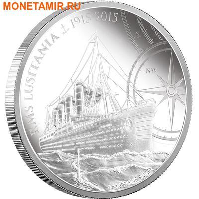 Ниуэ 2 доллара 2015.Корабль Лузитания (RMS Lusitania).Арт.60 (фото, вид 1)