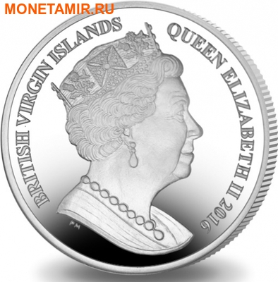 Британские Виргинские Острова 1 доллар 2016.Триатлон – Олимпийские Игры в Бразилии (велосипед бег плавание).Арт.60 (фото, вид 1)