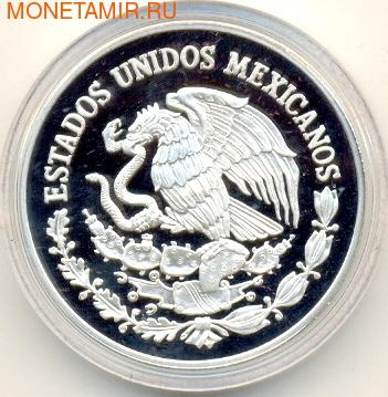 Чемпионат мира - Мексика 1986 (Футболист с мячем в руках). Мексика 100 песо 1986. (фото, вид 1)