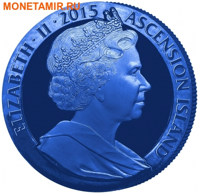 Остров Вознесения 1 крона 2015.Синяя марка – Два пенни (Two Penny Blue).Арт.60 (фото, вид 1)