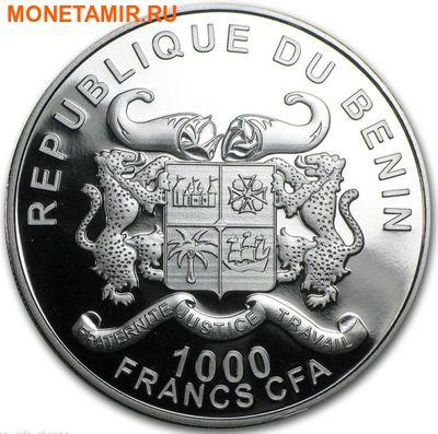 Бенин 1000 франков 2016.Лев с детенышем серия Охрана природы.Арт.60 (фото, вид 1)