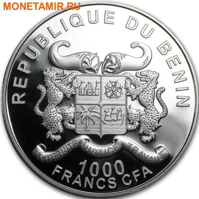Бенин 1000 франков 2016.Носорог серия Охрана природы.Арт.60 (фото, вид 1)