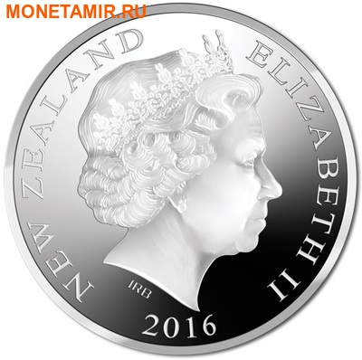 Новая Зеландия 5 долларов 2016 Орел Хааста (New Zealand 5$ 2016 Haast's Eagle 1oz Silver Coin).Арт. (фото, вид 1)