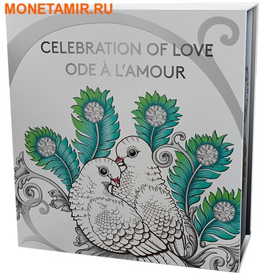 Канада 10 долларов 2016.Голуби Любовь всей жизни.Арт.60 (фото, вид 4)