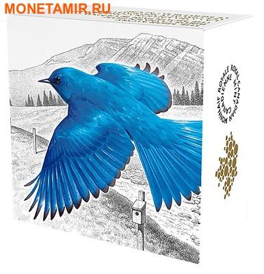 Канада 20 долларов 2016.Голубая горная Сиалия (Sialia currucoides) серия Перелетные птицы.Арт.60 (фото, вид 3)