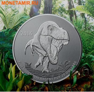 Канада 20 долларов 2016.Динозавр Тираннозавр Рекс (Tyrannosaurus rex)(Блистер).Арт.60 (фото, вид 2)