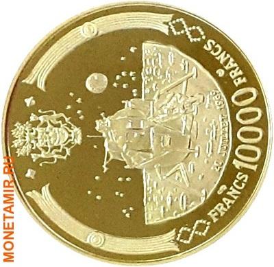 Габон 39000 франков 1969.Аполло 11 – Полет на Луну.Космос.(набор 5 монет КМ6-10).Арт.60 (фото, вид 2)