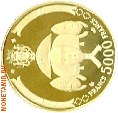 Габон 39000 франков 1969.Аполло 11 – Полет на Луну.Космос.(набор 5 монет КМ6-10).Арт.60 (фото, вид 3)