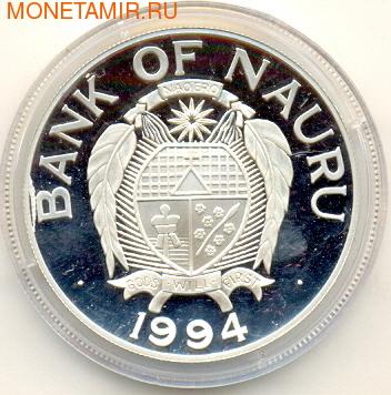 Чемпионат мира - США 1994. Науру 10 долларов 1994. (фото, вид 1)