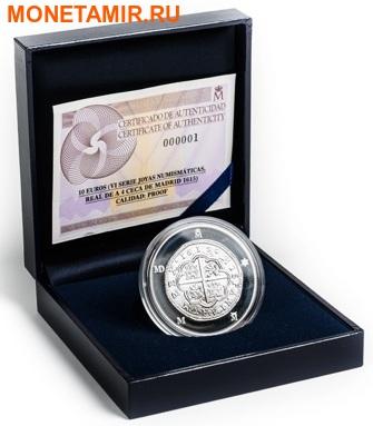 Испания 10 евро 2015.400 лет монетному двору Мадрида серия Сокровища нумизматики (Монеты на монетах).Арт.60 (фото, вид 2)