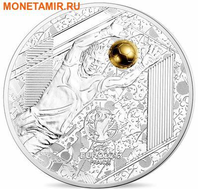 Франция 3х10 евро 2016.Футбол УЕФА ЕВРО 2016 Франция - UEFA Euro 2016 France - Золотой мяч (набор из трех монет).Арт.60 (фото, вид 1)