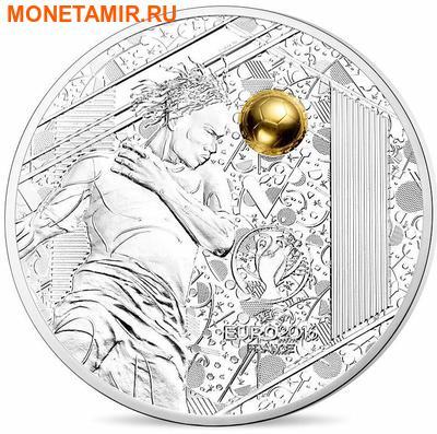 Франция 3х10 евро 2016.Футбол УЕФА ЕВРО 2016 Франция - UEFA Euro 2016 France - Золотой мяч (набор из трех монет).Арт.60 (фото, вид 2)