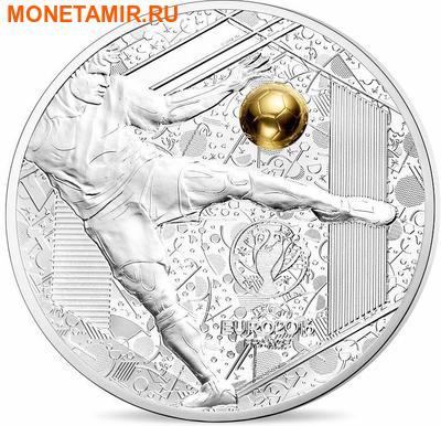 Франция 3х10 евро 2016.Футбол УЕФА ЕВРО 2016 Франция - UEFA Euro 2016 France - Золотой мяч (набор из трех монет).Арт.60 (фото, вид 3)