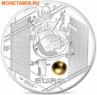 Франция 3х10 евро 2016.Футбол УЕФА ЕВРО 2016 Франция - UEFA Euro 2016 France - Золотой мяч (набор из трех монет).Арт.60 (фото, вид 4)