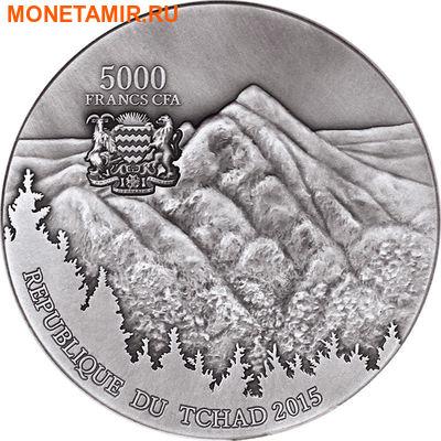Чад 5000 франков 2015 Метеорит Сихотэ-Алинь - SIKHOTE-ALIN METEORITE.Арт.60 (фото, вид 1)