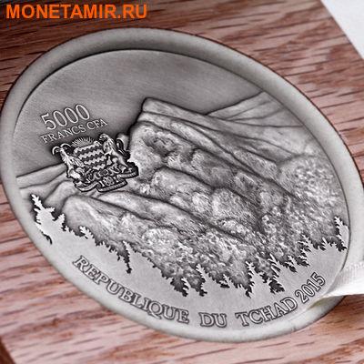 Чад 5000 франков 2015 Метеорит Сихотэ-Алинь - SIKHOTE-ALIN METEORITE.Арт.60 (фото, вид 3)
