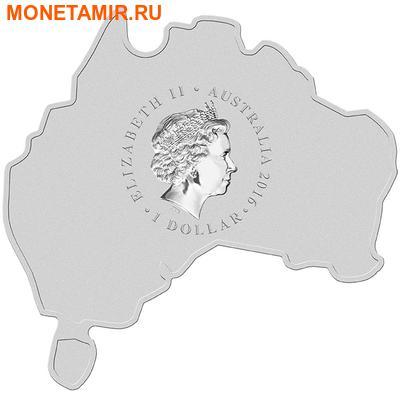 Австралия 1 доллар 2016.Большая Белая Акула серия Карта Австралии.Арт.60 (фото, вид 1)