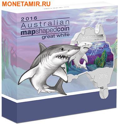 Австралия 1 доллар 2016.Большая Белая Акула серия Карта Австралии.Арт.60 (фото, вид 3)