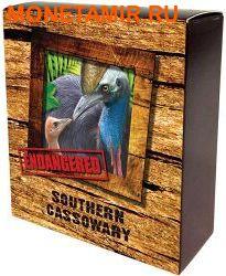 Тувалу 1 доллар 2016 Птица Южный Казуар серия Исчезающие виды.Арт.60 (фото, вид 3)