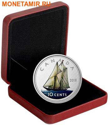 Канада 10 центов 2016.Шхуна Блюноуз серия Большие монеты.Арт.60 (фото, вид 2)