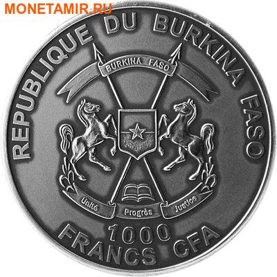 Буркина Фасо 1000 франков 2014.Буйвол.Арт.60 (фото, вид 1)