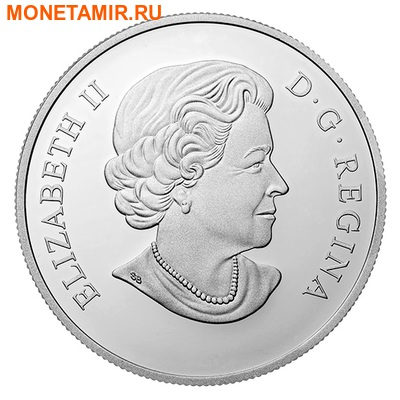 Канада 20 долларов 2016 Клен Капля Дождя (Canada 20C$ 2016 Bigleaf Maple Raindrop Swarovski Silver Proof).Арт.000465753937/67 (фото, вид 1)