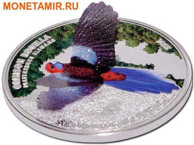 Острова Кука 5 долларов 2014 Красная Розелла – Мир попугаев 3D.Арт.000337648427/60 (фото, вид 1)