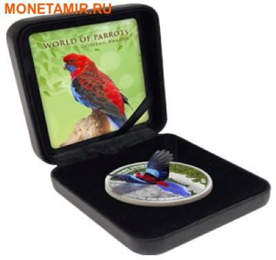 Острова Кука 5 долларов 2014 Красная Розелла – Мир попугаев 3D.Арт.000337648427/60 (фото, вид 3)