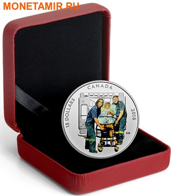 Канада 15 долларов 2016.Парамедики – Национальные герои.Арт.60 (фото, вид 2)