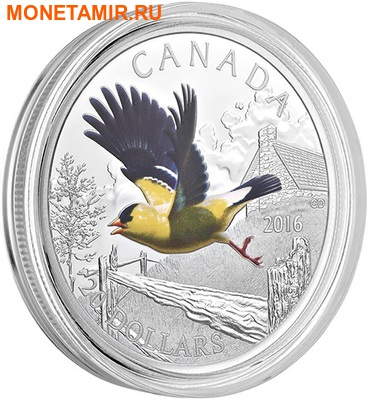 Канада 20 долларов 2016.Птица Американский Щегол.Арт.60 (фото, вид 1)