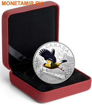 Канада 20 долларов 2016.Птица Американский Щегол.Арт.60 (фото, вид 3)