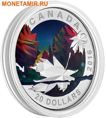 Канада 20 долларов 2016.Кленовый лист – Геометрия в искусстве.Арт.60 (фото, вид 1)