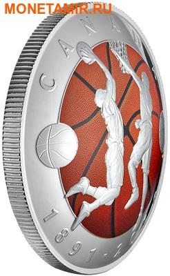 Канада 25 долларов 2016.Баскетбол – 125-лет изобретения баскетбола (выпуклая форма).Арт.60 (фото, вид 1)